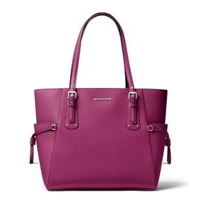 Michael Kors Voyager Medium Leather Tote - Garnet